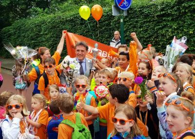 De sportiviteitsprijs voor de 10 kilometer ging dit jaar naar de Barbaraschool uit Bunnik.