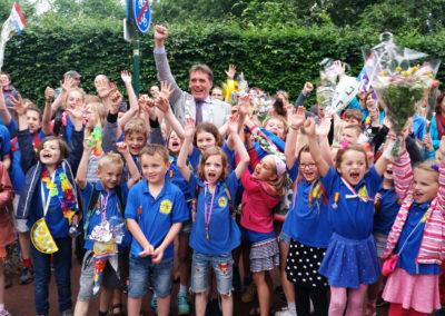 De sportiviteitsprijs voor de 5 kilometer ging dit jaar naar de Anne Frankschool uit Bunnik.